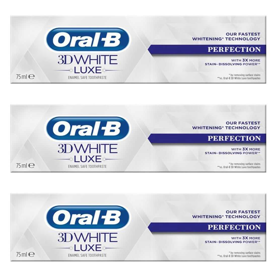 3x Oral-B 3D White Luxe Perfection Mint Toothpaste