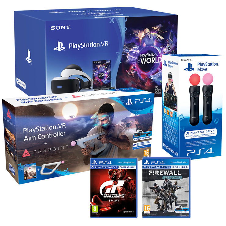 Playstation Vr Bundle Pack With Firewall Zero Hour Gran Turismo Farpoint With Aim Move Controllers Pricedrop Store